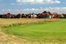 Royal Liverpool Golf Club, Hoylake 'Course' with the Clubhouse in the background