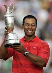 The winner of the 2006 Open Championship at Royal Liverpool - Tiger Woods